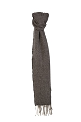 Magee 1866 Grey & Charcoal Luxury Hopsack Scarf