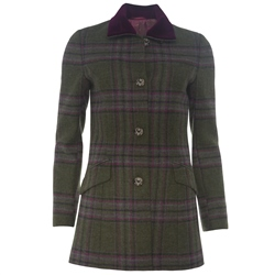 Magee 1866 Green & Pink Country Check Coat