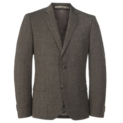 Magee Clothing Oat Salt & Pepper Donegal Tweed 3 Piece Tailored Fit Suit