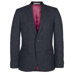 Magee Clothing Navy Micro Design Regular Fit Blazer