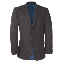 Magee Clothing Charcoal & Navy Draft Weave Donegal Tweed Blazer