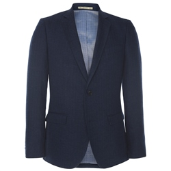 Magee Clothing Navy Blue Linen, Wool & Cashmere Blend Blazer