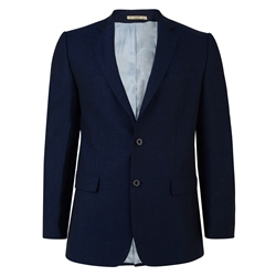 Magee Clothing Classic Navy Linen 2-Piece Regular Fit Suit