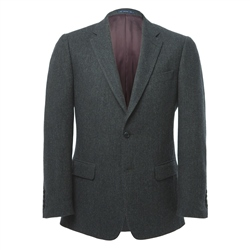 Magee Clothing Charcoal Donegal Draft Weave Tweed Regular Fit Blazer