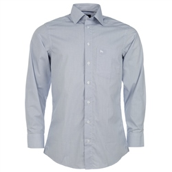 Magee Clothing Blue & White Graph Check Regular Fit Shirt