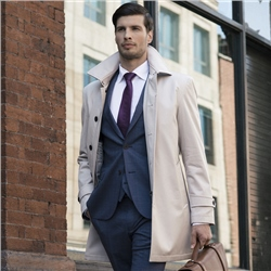 Magee Clothing Dunuisce Cream Mac Overcoat