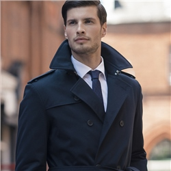 Magee 1866 Mountcharles Navy Trench Coat