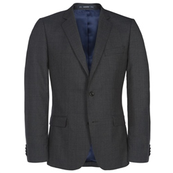 Grey Travel Mix & Match Check 3-Piece Suit Jacket