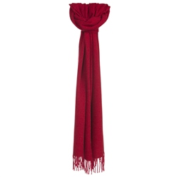 Magee 1866 Luxury Red Hopsack Widescarf