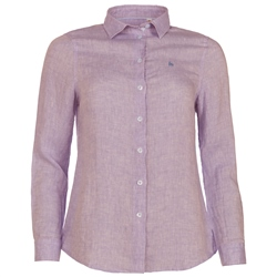 Magee Clothing Pink Megan Linen Shirt