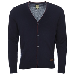 Magee 1866 Navy Merino 5-Button Cardigan
