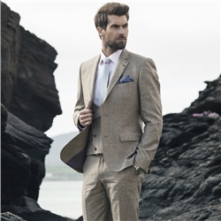 Magee Clothing Oat Tweed Fleck 3 Piece Tailored Fit Suit