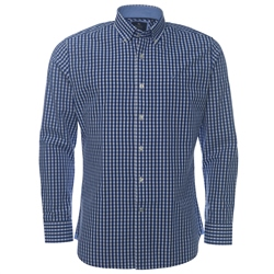 Magee Clothing Navy Gingham Check Button Down Regular Fit Shirt