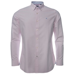 Magee Clothing Pink Solid Oxford Tailored Fit Shirt