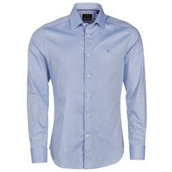 Magee Clothing Blue Benroe Double Cuff Tailored Fit Shirt