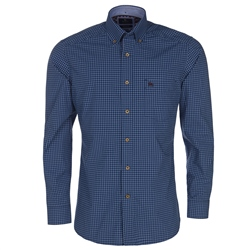 Magee Clothing Navy Check Downings Regular Fit Shirt