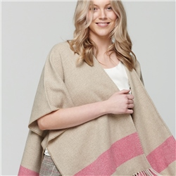 Camel & Pink Donegal Tweed Eske Cape