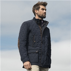 Magee Clothing Navy Glengesh Quilted Coat