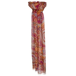 Magee Clothing Orange & Pink Paisley Scarf