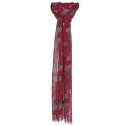 Magee Clothing Red Floral Scarf
