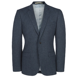 Magee Clothing Blue Donegal Tweed 3-Piece Tailored Fit Suit