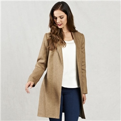 Magee Clothing Oat Clooney Donegal Tweed Cardigan Coat