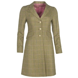 Magee 1866 Green Herringbone Check Donegal Tweed Coat
