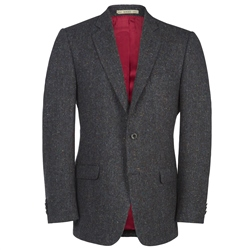 Magee Clothing Navy Salt & Pepper Handwoven Donegal Tweed Blazer