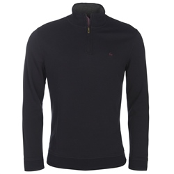 Magee Clothing Navy Glen Quarter Zip Tailored Fit Jumper