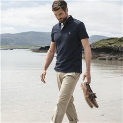 Magee 1866 Navy Marfagh Pique Tailored Fit Polo Shirt