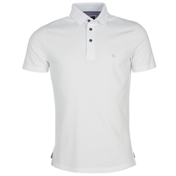 Magee Clothing White Marfagh Pique Tailored Polo Shirt