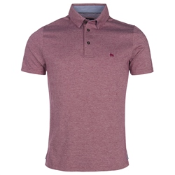 Magee Clothing Raspberry Rahan Oxford Tailored Fit Polo Shirt