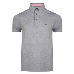 Magee Clothing Grey Rahan Tailored Fit Polo Shirt