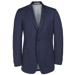 Magee Clothing Blue Check 3-Piece Regular Fit Suit