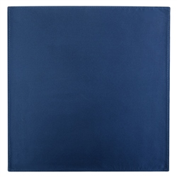 Magee 1866 Navy Satin Silk Pocket Square