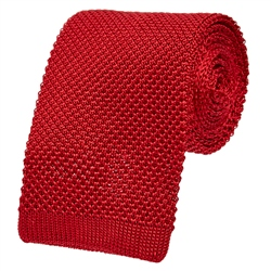 Magee 1866 Red Knitted Tie