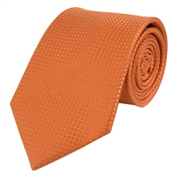 Magee 1866 Orange Micro Design Silk Tie