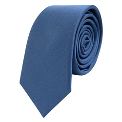 Magee Clothing Navy Thin Satin Silk Tie