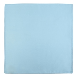 Magee Clothing Pale Blue Satin Silk Pocket Square