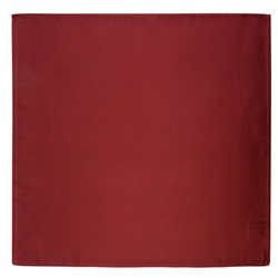 Magee 1866 Wine Satin Silk Pocket Square