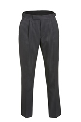 Magee 1866 Grey Pinstripe Classic Fit Morning Trouser