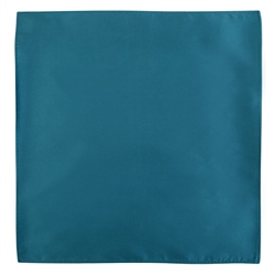 Magee 1866 Teal Silk Pocket Handkerchief