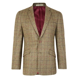 Magee Clothing Camel Country Check Herringbone Donegal Tweed Classic Fit Blazer