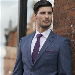 Magee 1866 Blue Houndstooth 2-Piece Regular Fit Suit