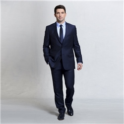 Magee 1866 Navy Pinstripe 2-Piece Classic Fit Suit