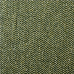 Magee 1866 Luxury Green Herringbone Silk Fabric