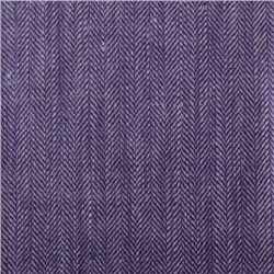 Magee Clothing Luxury Lilac & Purple Herringbone Linen & Silk Mix Fabric