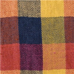 Magee 1866 Patchwork Multi Coloured Linen