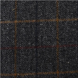 Magee Clothing Black & White Coloured Over Check Donegal Tweed