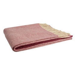 Magee Clothing Magee Raspberry & Oat Herringbone Throw